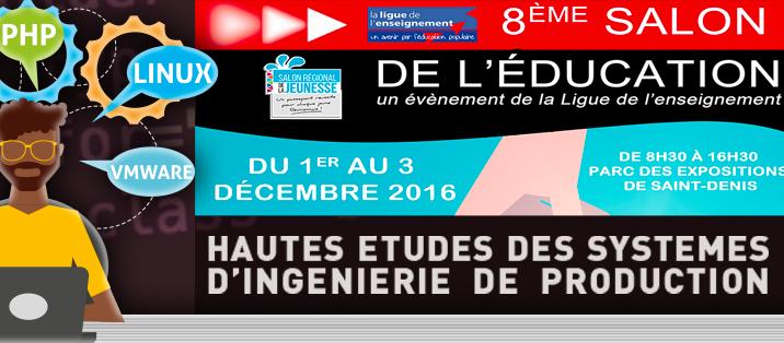 Salon de l'éducation du 1er au 3 décembre 2016