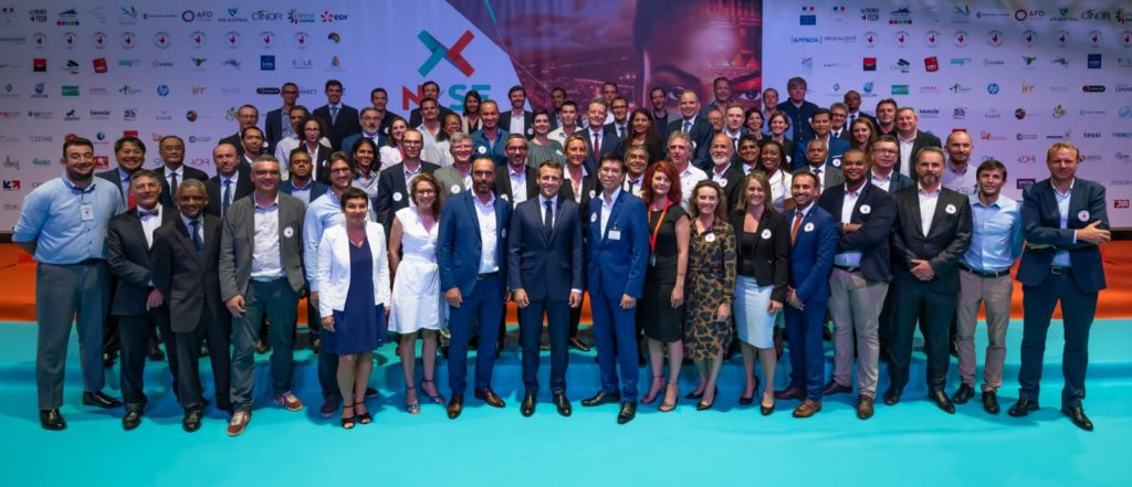 photo d'Emmanuel Macron au salon NxSE 2019