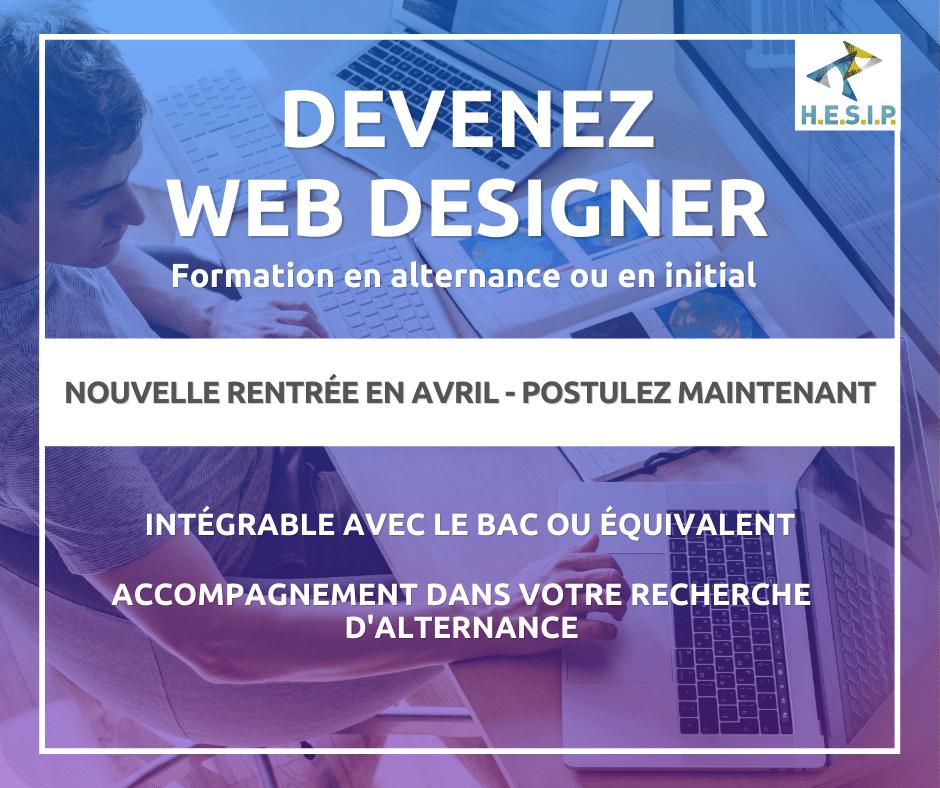 Visuel formation Web Designer