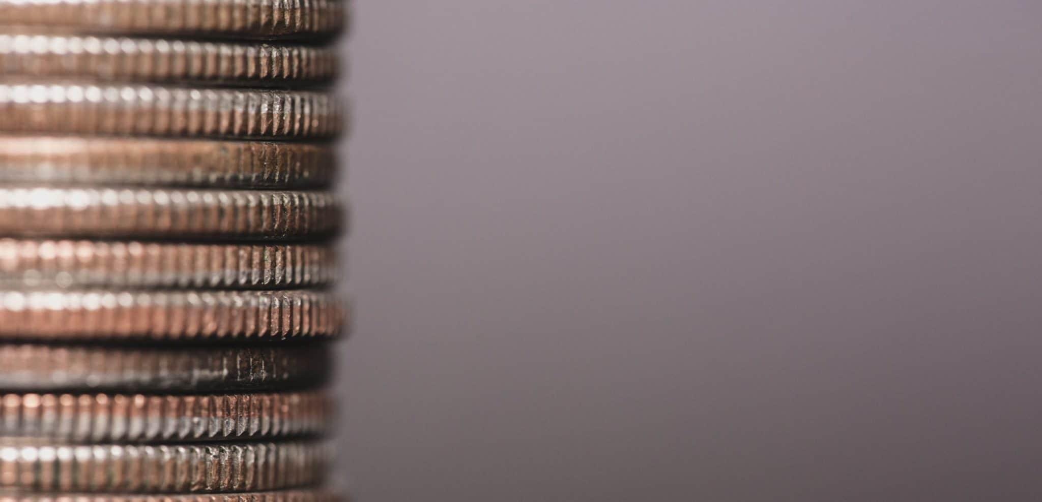 Une pile de pièce symbolisant le financement